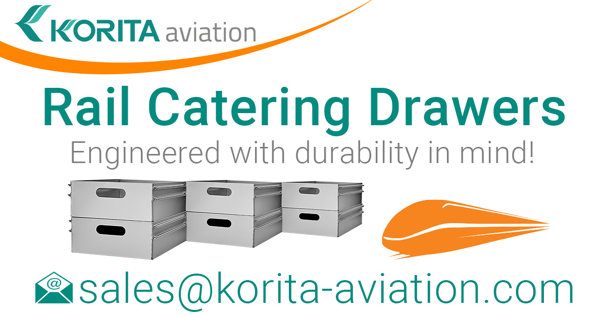 rail catering drawers, aluminium catering drawers, railway catering operations, drawers, rail kitchen drawers, food and beverage drawers, aluminium storage drawers , on-train service drawers, product spotlight, rail catering news - Korita Aviation