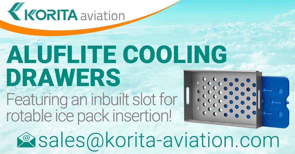 drawers, catering drawers, airline drawers, cooling drawers, airline trolley drawers, airline cart drawers, lightweight aluminium drawers - Korita Aviation