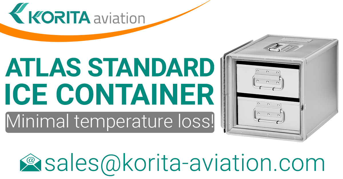 ATLAS ice container, airline inflight storage, Aluflite insulated containers, ATLAS standard, standard units, atlas ice containers, ATLAS galley, aircraft storage, airline carriers, airline containers, cooling solutions- Korita Aviation