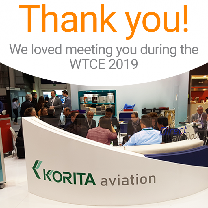 Thank you for meeting Korita Aviation during the WTCE 2019.