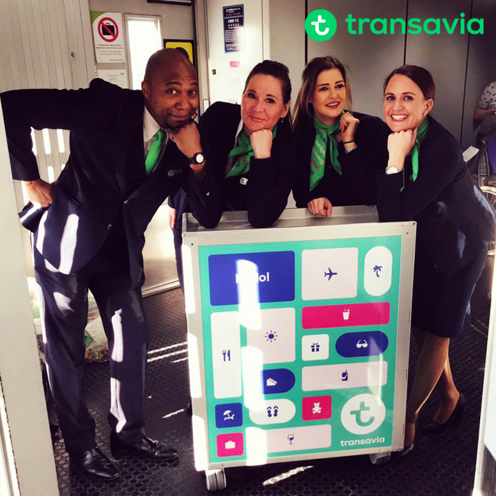 Transavia invites you to place your order, trolleys manufactured by Korita Aviation