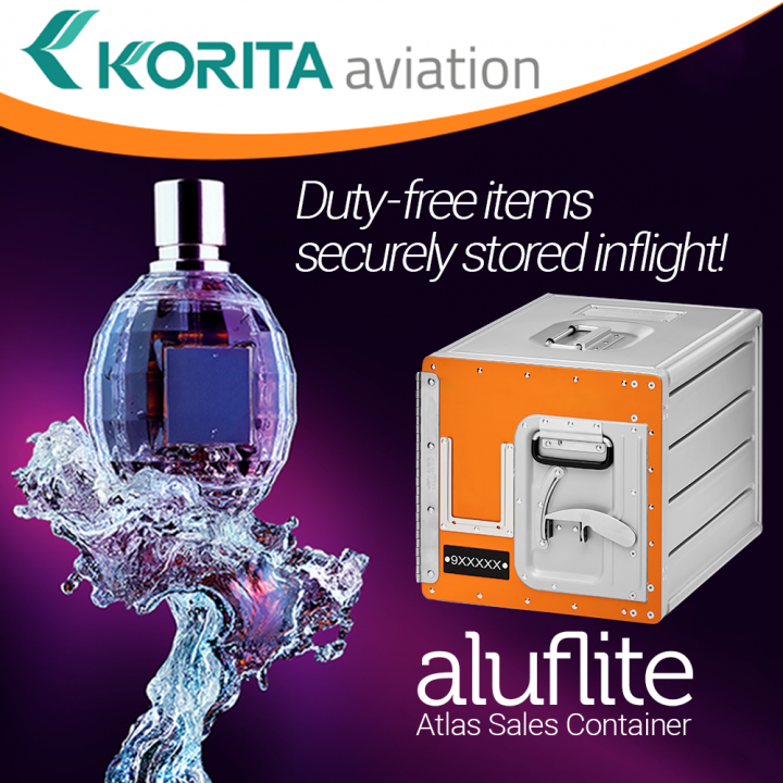 product spotlight, duty-free item storage, inflight sales, galley insert equipment, sales container, standard units, airline containers, inflight storage - Korita Aviation