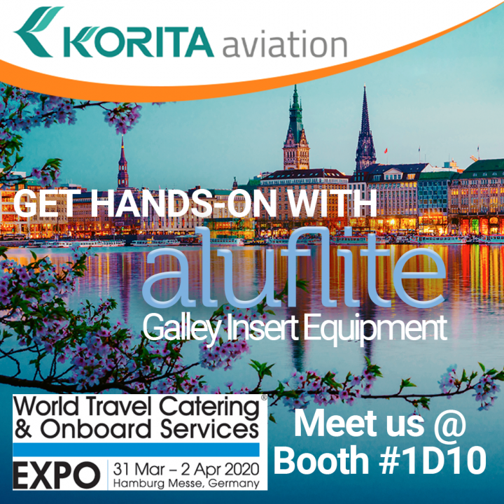Korita Aviation exhibits at the World Travel Catering & Onboard Services Expo, Meet Korita at the WTCE 2020, View Korita Aviation products in Hamburg at the WTCE 2020 - Korita Aviation