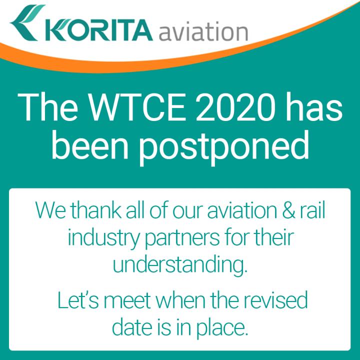 WTCE 2020 Postponed, World Travel Catering & Onboard Expo is postponed - Korita Aviation